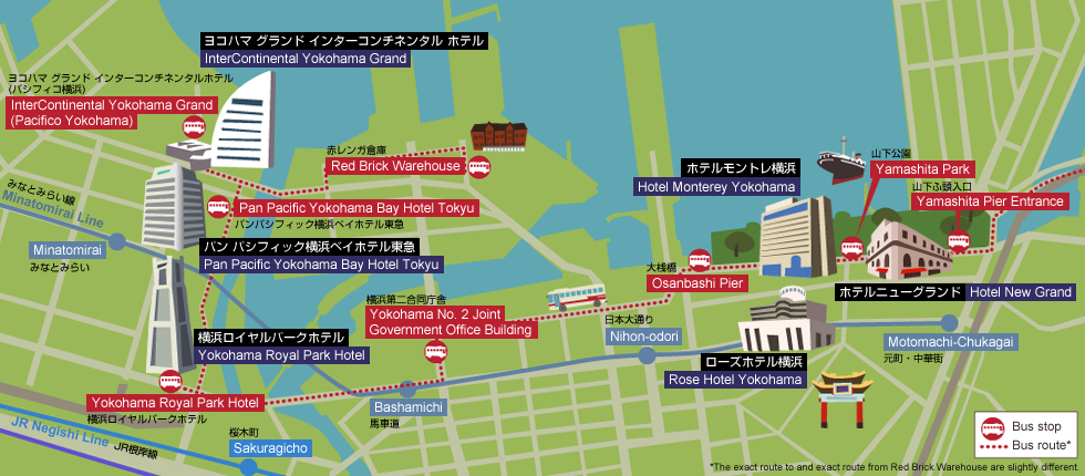 Yokohama Tourist Attractions Map – Yokohama Tourist Map